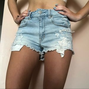 (american eagle) high waisted shorts